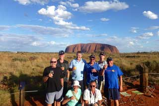 Cricket Tour Clients in Red Centre