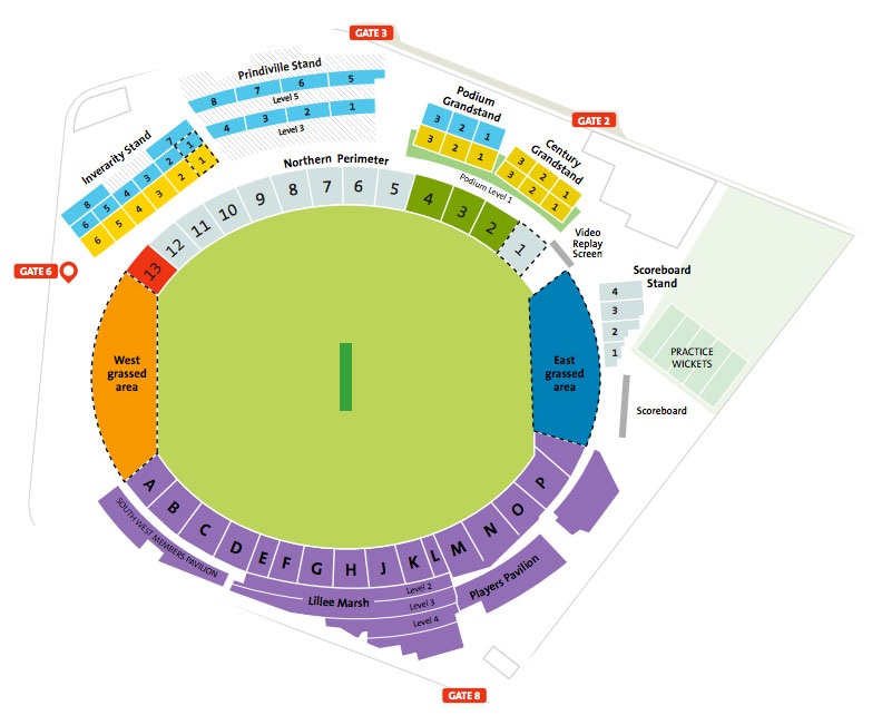 WACA Seating map