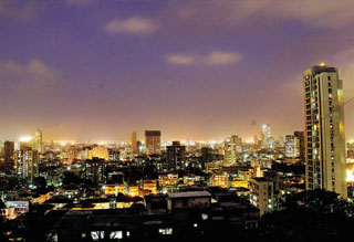 Pune skyline at night