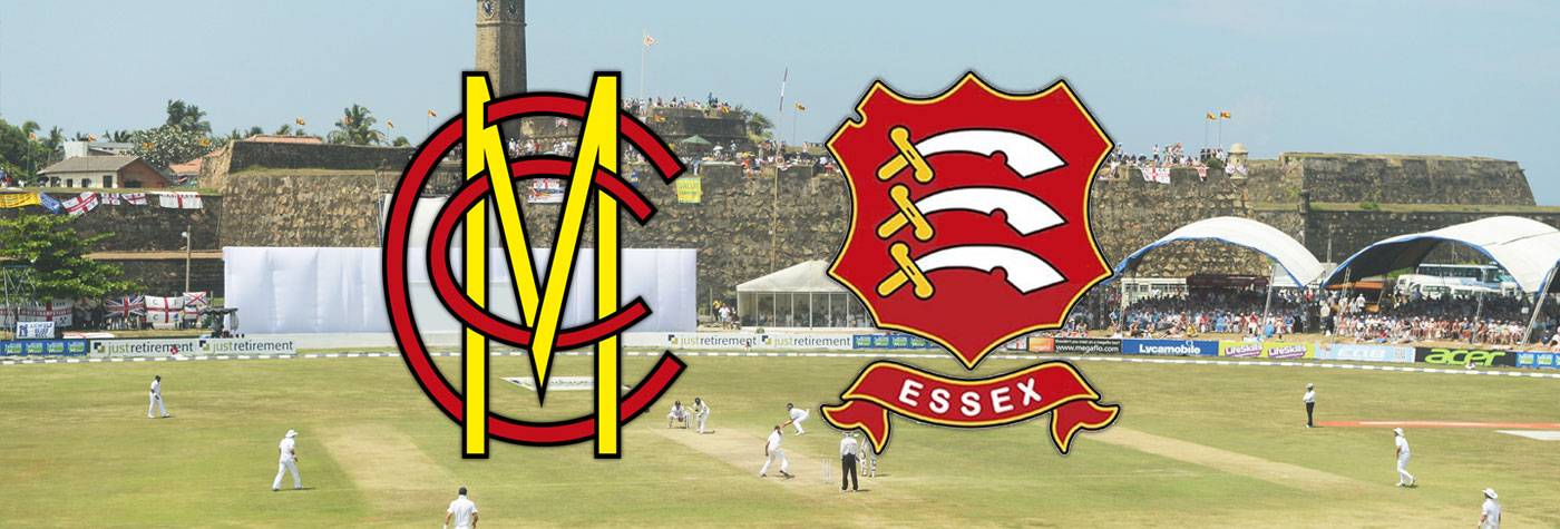 Galle Stadium with the MCC and Essex CCC logo in front