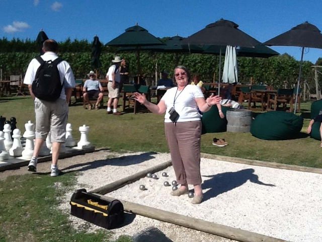 Playing Boules at Waiheke Island, NZ