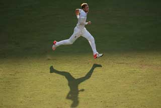 Stuart Broad in full flow