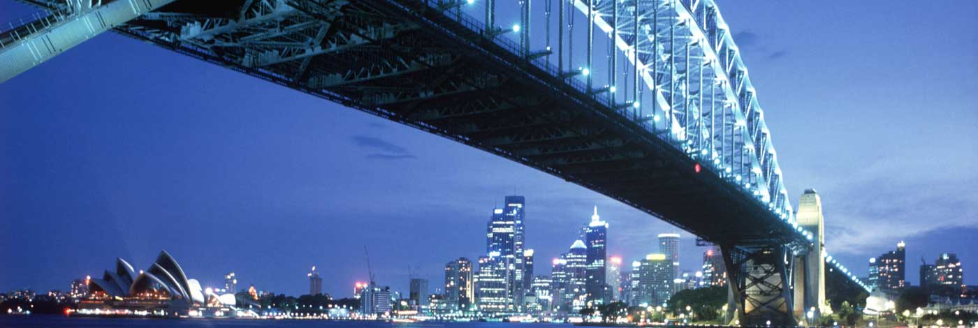 Sidney Harbour Bridge and skyline