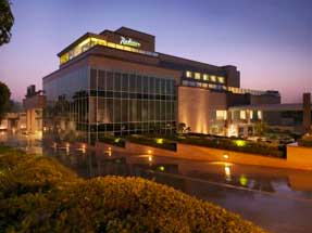 the Radisson Hotel, Agra