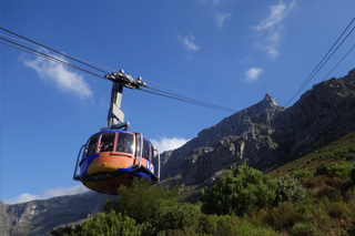 Cable car to Table Mountain, Capetown
