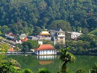 photo of Kandy Temple across the river