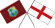 England flag and West Indies flag