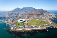 Aerial photo of Capetown in South Africa