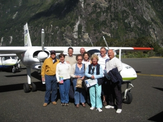 Flying to Milford Sound, New Zealand