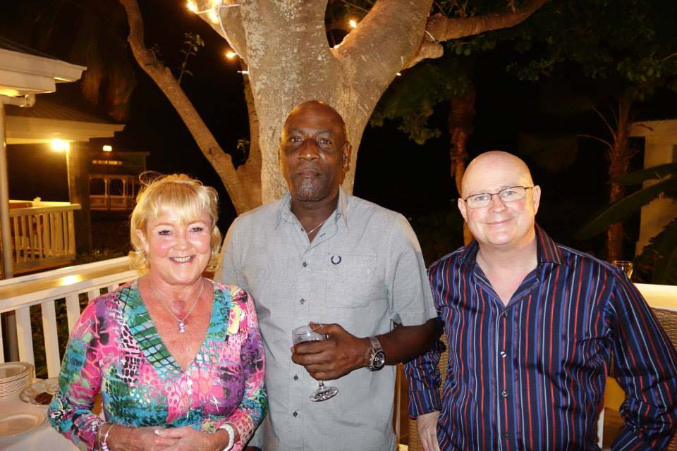 Sir Viv Richards at our cricket cocktail party, Antigua