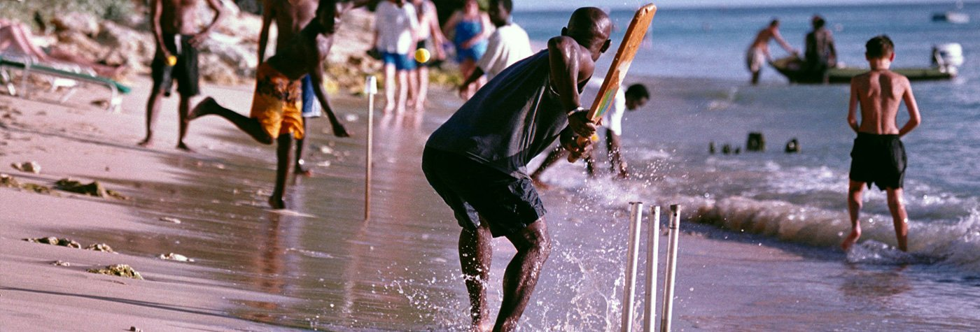 Cricket on the beach in West Indies