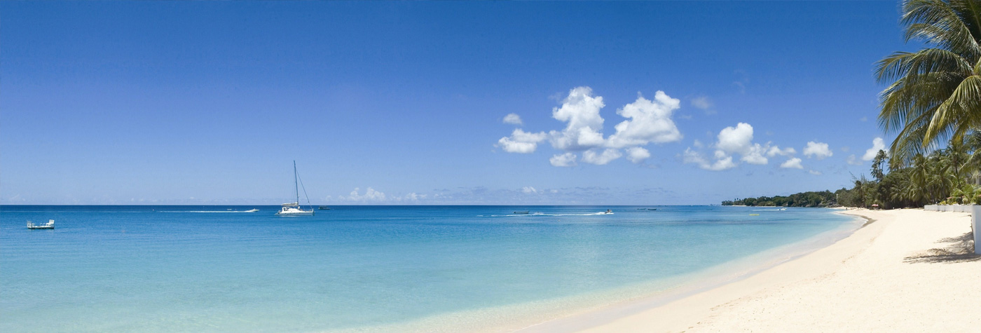 Beach in Barbados, West Indies