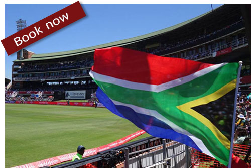 photo of South Africa flag and cricket ground